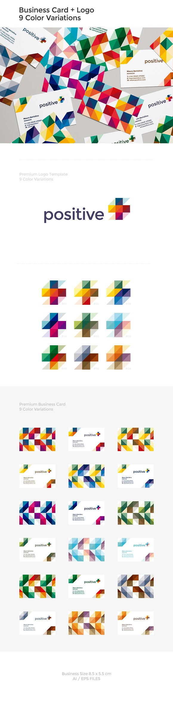 Business Card + Positive Logo ~ Business Card Templates ~ Creative ...