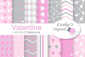 Valentine Digital Paper Printable's