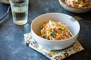 Cabbage coleslaw salad