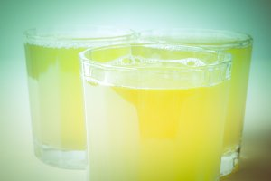 Retro look Pineapple juice