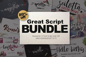FONT BUNDLE (Great Bundle) -89% OFF