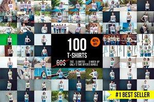 100 T-Shirt Mock-Up Bundle