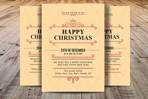 Happy Christmas Invitations Template