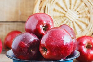 A beautiful red apples