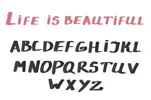 Watercolor Alphabet, font, ABC