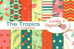 Tropical Digital Paper