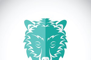 Vector image of a bear head.