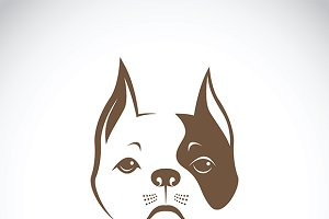 Vector of a dog face.
