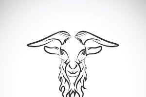 Vector of a goat head design.