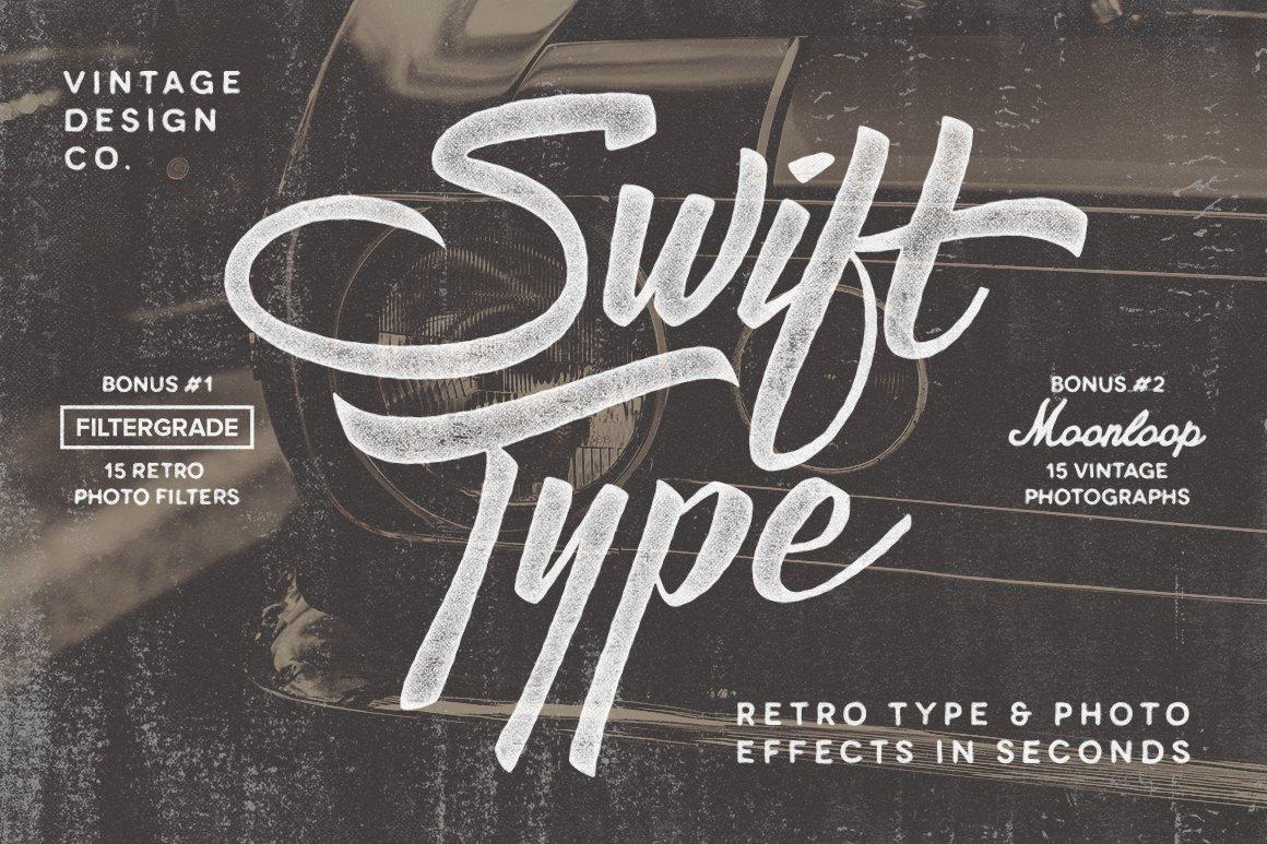 Retro Type Photo PSD Layer Styles Creative Market
