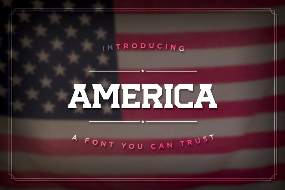 America, the Font ~ Slab Serif Fonts ~ Creative Market
