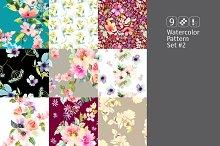 9 watercolor seamless patterns #2
