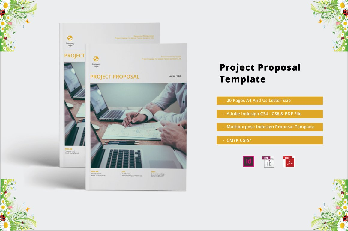 project proposal template brochure templates on creative market