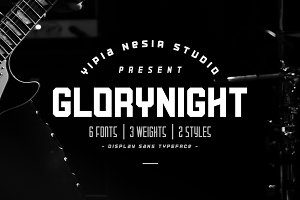 Glorynight Family - 6 fonts