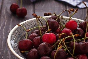 Sweet ripe cherry