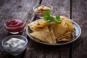 Mexican corn chips nachos