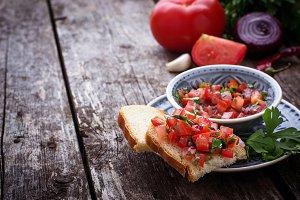 Mexican tomato salsa sauce