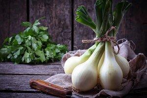 Raw fresh onions
