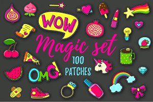 100 patches + 9 patterns