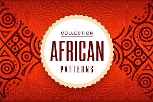 Collection African Vector Patterns
