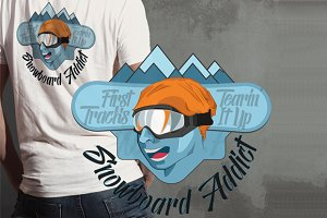 Snowboard Addict T-shirt Design