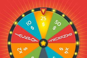 Lucky wheel vector template