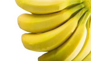 Bananas isolated on a white background