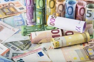 European money background