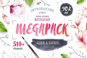 90%off Watercolour MEGAPACK