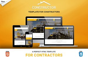 Construction HTML Landing Page