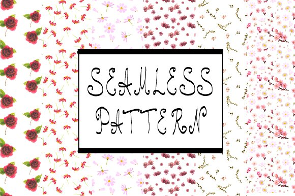Seamless. Photography set - Patterns