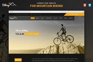 Biking Responsive HTML Template