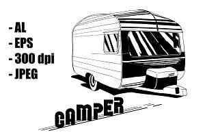 Doodle of Camper Trailer