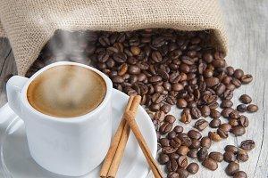 Hot espresso.