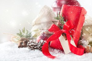 Christmas concept with gift