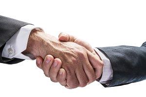 Handshake. Closeup shot of hands.