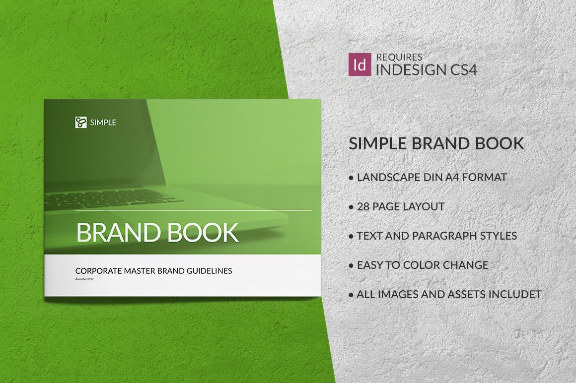 simple brand book guidelines brochure templates creative market