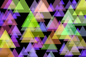 Blurred colored triangles