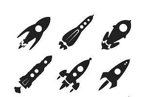 Space rockets iconset