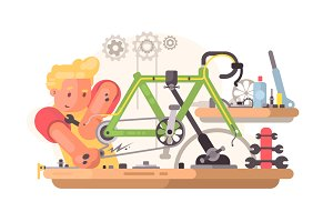 Bicycle repair service