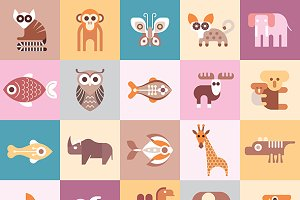 Animals vector illustration