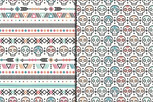Day of the Dead Tribal Patterns