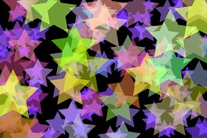 Blurred colored stars