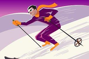 Mountain skier.