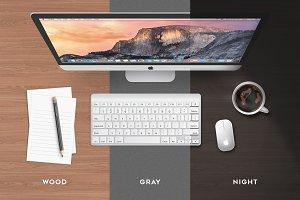iMac Mock-up All Vector