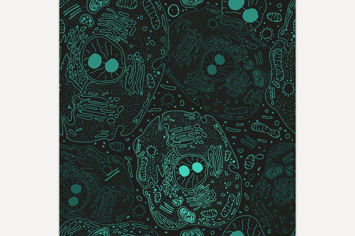 Hand Drawn Cell Pattern | Pre-Designed Illustrator ...