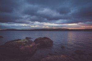 Swedish lake in september