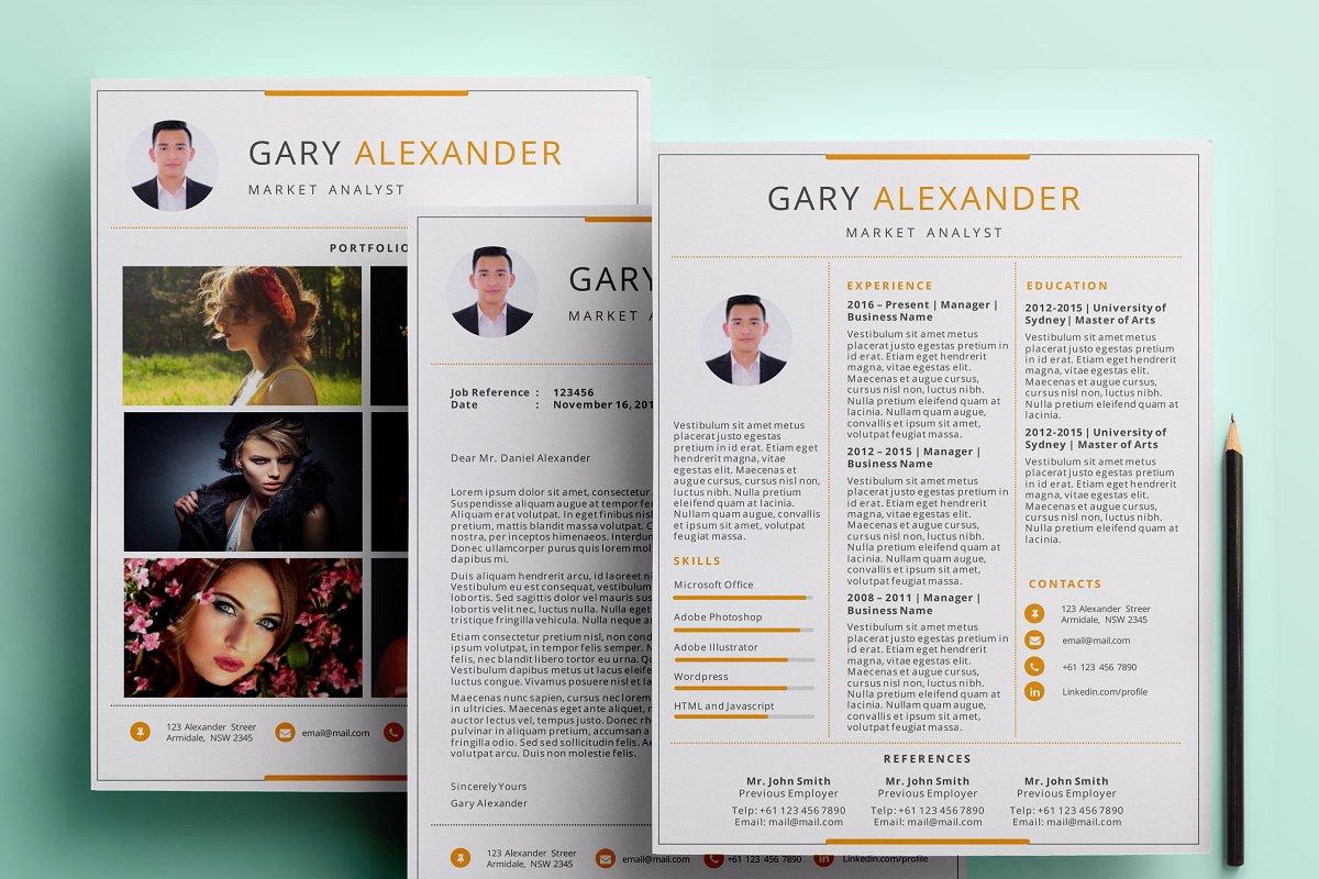 Powerpoint Resume Pack Resume Templates Creative Market
