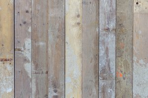 Used wood scaffolding planks