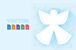 Snow Angel Vector Image